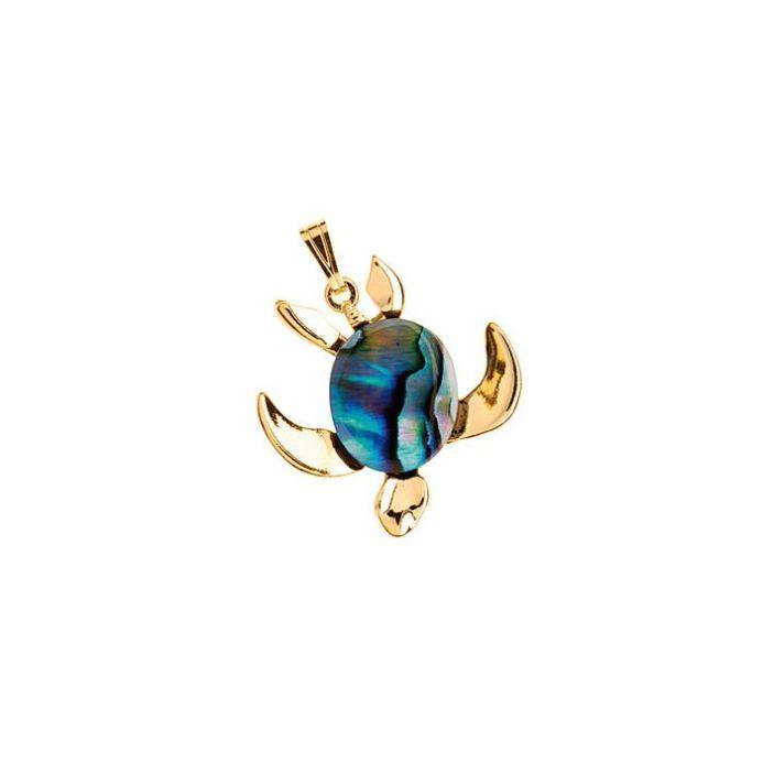 Paua Sea turtle Pendant - Ariki New Zealand Jewellery
