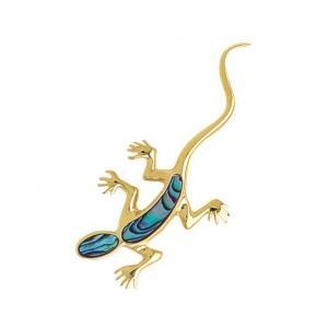 Gecko Brooch - Ariki New Zealand Jewellery