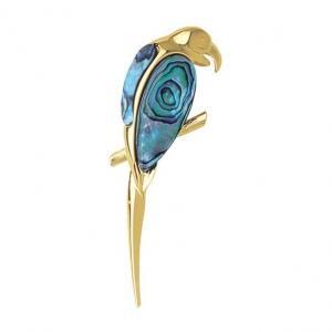 Parrot Brooch - Ariki New Zealand Jewellery